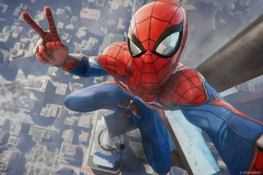 Spider-Man Gampeplay New York von Oben