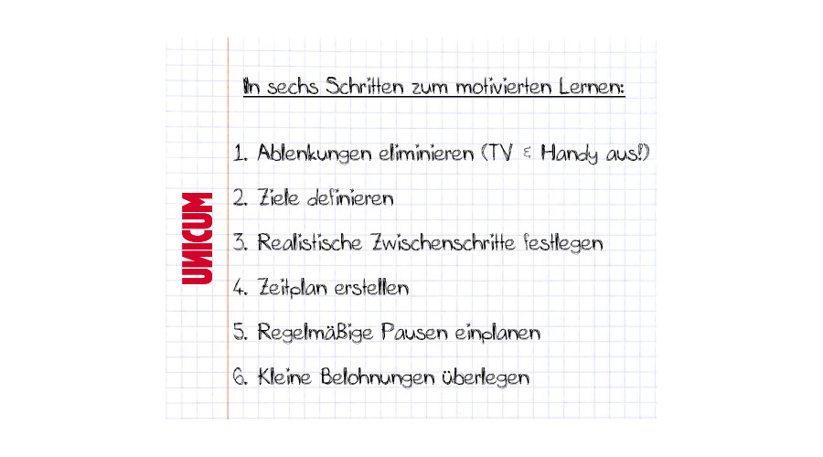 Selbstmotivation Checkliste