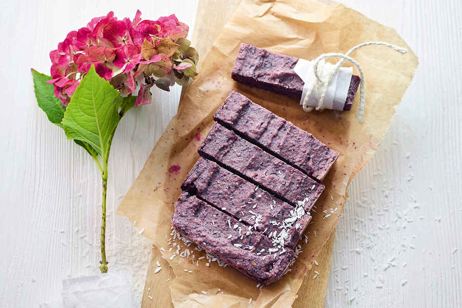 Rezept Blaubeerriegel aus Happy Healthy Food