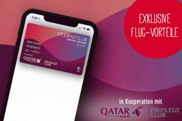 Qatar Airways Student Club Angebot